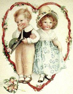 Valentines Greetings, Vintage Valentine Cards, Vintage Greeting Cards, Vintage Ephemera, Victorian Pictures, Vintage Pictures, Vintage Images, Vintage Artwork, Vintage Prints