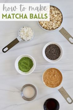 These Coconut Matcha Energy Balls are the perfect bite to power your day. Naturally dairy-free, vegan, and gluten-free! #HealthySnack #Matcha How To Make Matcha, Matcha Green Tea Latte, Dairy Free, Gluten Free, Vegetarian Breakfast Recipes, Energy Balls, Recipe Of The Day, Drinking Tea, Food Print