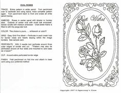 All Things Parchment Craft : My Free Pattern for Best Wishes Roses