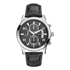 Dressy or Casual, this is the perfect watch for any occasion! Guess Men's Dress Chronograph Leather Strap Watch - W0076G1 - £134.10  You can view it here: http://www.nigelohara.com/guess-mens-dress-chronograph-leather-strap-watch-w0076g1-pid25072.html