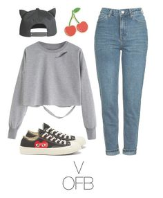 """Picnic with BTS"" by mazera-kor on Polyvore featuring мода, H&M, Georgia Perry, Topshop, Converse, picnic, bts и taehyung"