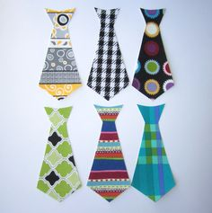 Set of 6 IronOn Applique MINI Ties  Perfect for by AppliqueDecor, $9.99