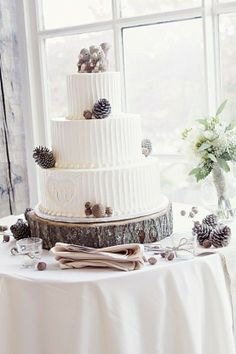 Pine Cone Rustic Wedding Cake… the Simplicity of the Icing and the heart with initials! Can a rustic wedding cake get more adorable than this pine cone cake featuring a squirrel cake topper! Pine Cone Wedding, Fall Wedding, Our Wedding, Dream Wedding, Wedding Ideas, Forest Wedding, Chic Wedding, Wedding Reception, Wedding Stuff