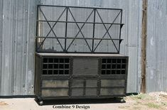Vintage Industrial Liquor Cabinet/Bar. Urban Loft by leecowen, $4500.00