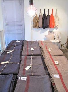 Tablecloths – Merci – Paris – France « Just One Suitcase Bedding Sets Online, Luxury Bedding Sets, Merci Store Paris, Merci Boutique, One Suitcase, Hotel Collection Bedding, Luxury Bedding Collections, Textiles, Linen Bedding