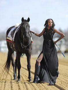 Equestrian chic ( Lloyd Fox, Baltimore Sun / April 3, 2013 ) Aminata in Theia gown, Jones & Jones, $695; Michael Kors boots, Handbags In The...