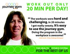 Workout for only 20 mins a day with journey gym!