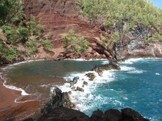 Red Sand Beach, Hana, Maui---so secluded & quiet.
