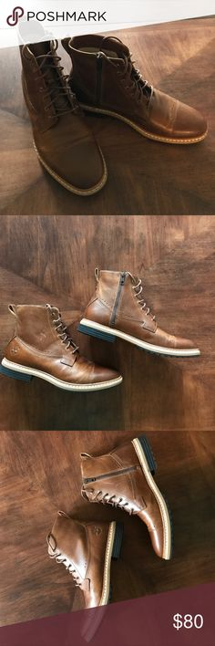 🍁Timberland Men's Boots🍁 Timberland Rugged Waterproof Mens Brown Leather Boots. New & Never Worn (As Shown In Photo). NWOB. Perfect For Fall & Winter. A Great Gift For The Husband or Boyfriend. 🌟Offers Welcome!🌟 Timberland Shoes Boots