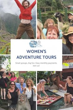 Join small groups of women for affordable adventures around the world. If you've been wanting to travel but aren't ready to go it alone, this is for you.      Easy monthly payments available. Next year, we're going to Istanbul, Spain/Morocco, and Peru