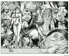 Art Adams -Leia in Jabba's Palace #starwars