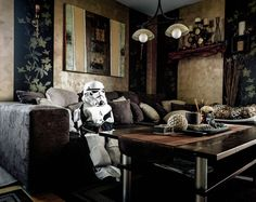 """""""Just the two of us"""" by Klaus Pichler  """"For this photo series I visited owners of elaborate costumes in their own homes. As a matter of fact, 'Just the two of us' deals with both: the costumes and the people behind them."""""""