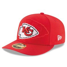 Kansas City Chiefs New Era Sideline Official Low Profile 59FIFTY Fitted Hat - Red