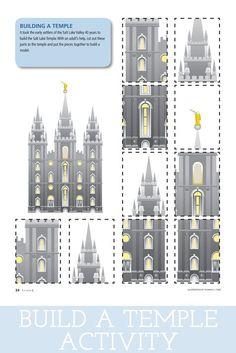 Teach the children about building temples with this fun Sharing Time Idea from Little LDS Ideas.