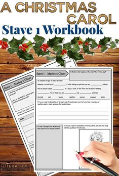 Help support your English Literature GCSE work on Charles Dickens' A Christmas Carol. This student workbook includes 4 gorgeous workbook pages for Stave A Christmas Carol Story, A Christmas Carol Revision, Dickens Christmas Carol, Gcse English Literature, British Literature, Literary Technique, English Teaching Resources, Higher Order Thinking, Ela Classroom