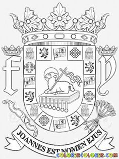 escudo puerto ricopreschool activitiescoat of armscolouring - Free Coloring Pages Of Puerto Rico