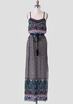 Dhaka City Paisley Maxi Dress | Modern Vintage Dresses | Modern Vintage Clothing