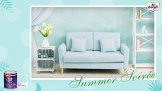 Here's a tribute to the fleeting summers and the reflection of the sky on fresh snow. We all need these powdery blues in our homes during summer to remind us that the high temperatures are not here to stay. Make a cosy nook to cool off at your home with the combination of different shades of powder blue and you can thank us later for the idea. Show us your summer home décor with #SilkGlamorSummerSoiree! #BergerPaints #PaintYourImagination