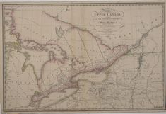 A map of the province of Upper Canada describing all the settlements and townships &c. with the countries adjacent from Quebec to Lake Huron, 1818