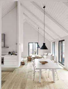 White Beams Kitchen