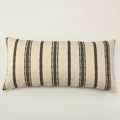Bolsters Black and Cream Stripe Front and Back
