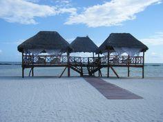 El Dorado Maroma resort, get a massage on the beach! {El Dorado Spa Resorts, by Karisma}