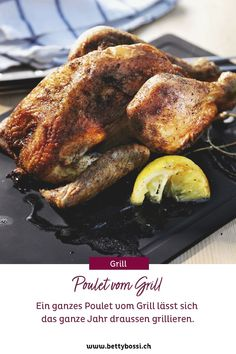 Ein ganzes Poulet, kannst du mega einfach zubereiten im Grill! Hier das perfekte Rezept für dich und deine Familie. Tricks, Turkey, Meat, Food, Barbecue Recipes, Crickets, Food Portions, Simple, Food Food