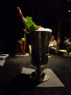The Root of All Evil (Walnut rum, sour apple, poire william, lime juice, root beer, finest silver, mad paper) @ Restaurant City Social