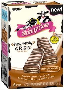 Hoooooooly crap. 110 calories for one...but I want to eat THE WHOLE BOX. Skinny Cow Heavenly Crisp Candy Bar Milk Chocolate $7.87