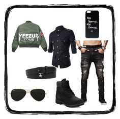 """""""No. 42 - Mikey Ch 1"""" by kajalsandy123 on Polyvore featuring Timberland, Givenchy, Topman, men's fashion and menswear"""