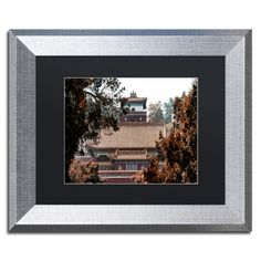"""Trademark Art """"Fall Colors"""" by Philippe Hugonnard Framed Photographic Print Size: 16"""" H x 20"""" W x 0.5"""" D, Matte Color: Black"""