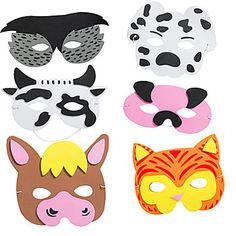 Foam Farm Animal Masks  12/4.99 (Shindigz)