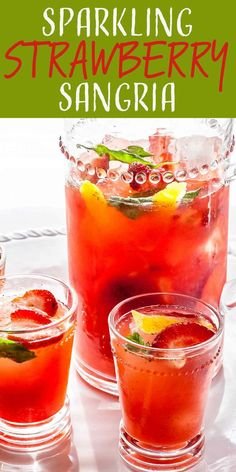 Need something refreshing that can be boozy or nonalcoholic? Fresh strawberry puree meets a basil simple syrup—and some fizz—in this sparkling spin on sangria. #sangria #strawberries #prosecco #simplyrecipes