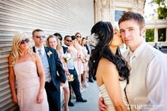love this photo angle with wedding party