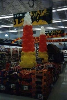 Halloween Candy Corn Balloon Display at Giant Food Stores
