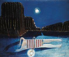 Otto Tschumi Wenn man nachts schwimmt, muss man sich eine Laterne vor den Bauch binden / If you swim at night, you have to tie a lantern in front of your belly, oil on canvas, 46 x. Max Ernst, Just For Fun, Neon Signs, Art, Swim, Switzerland, Art Background, Kunst, Gcse Art