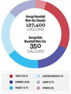 A breakdown of average American water use
