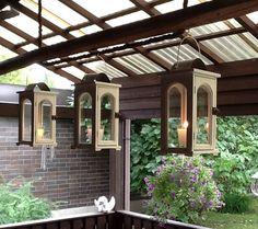 Old hay pole and lanterns Lanterns, Pergola, Backyard, Outdoor Structures, Gardening, Ideas, Yard, Garden, Lamps