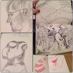 Ich dachte, ich teile mal meine Skizzenbücher mit euch… :) Meine aktuellsten Skizzenbücher (ein Artbook, wie es meine Schüler haben und ein größeres grünes Buch mit anderem Papier) sind nicht...