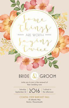 Wedding Renewal Invitation   Vistaprint