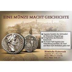 DIE ERBEN DES AUGUSTUS: Augustus 27 v.-14 n.Chr. Denar 20 mm 2 v.-4 n.Chr. Lyon. Kopf r. mit Lorbeerkranz CAESAR… #coins #numismatics
