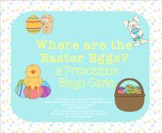 Where are the Easter Eggs: a Preposition Bingo Game
