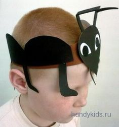 Mask of ant - Julia Home Ant Crafts, Insect Crafts, Diy Crafts Hacks, Preschool Crafts, Crazy Hat Day, Crazy Hats, Ant Costume, Diy For Kids, Crafts For Kids