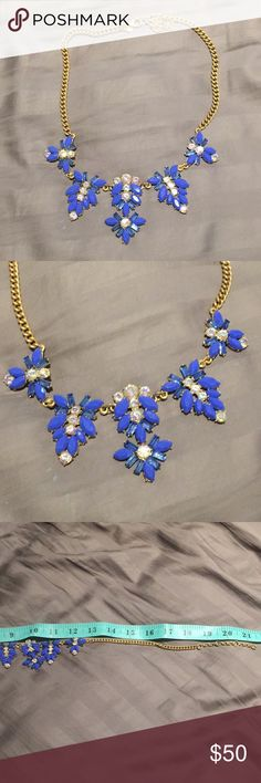 J.Crew Blue statement necklace, NWOT Fabulous J.Crew Blue statement necklace, NWOT  Feel free to make an offer, especially in bundles! J. Crew Jewelry Necklaces