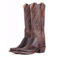 Aggieland Outfitters-Texas A Lucchese boots will pair up perfectly with any Maroon and White summer dress #gigem