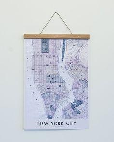 New York Map poster från Owl streets hos ConfidentLiving.se
