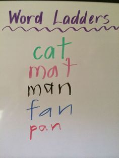 Fun Games 4 Learning: Word Ladders - Great Literacy Game!