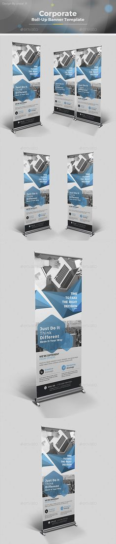 Abstract Roll-up Banner Design Template - Signage Ads Banner Design Print Templates Vector EPS, AI Illustrator. Download here: https://graphicriver.net/item/abstract-rollup-banner/19352843?ref=yinkira