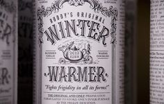 Festive Mulled Wines by Buddy #typography #type #vintage: