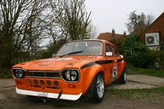 1973 Ford Escord Mk1 TVR V8 Swap Mexico RS200 Orange For Sale Front